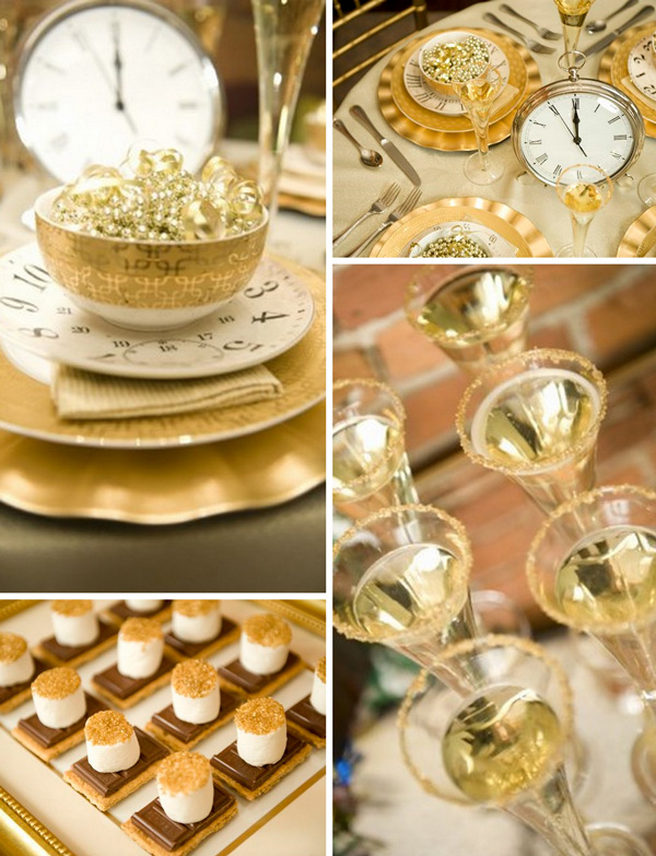 sparkle gold shimmery new years eve wedding ideas 2015