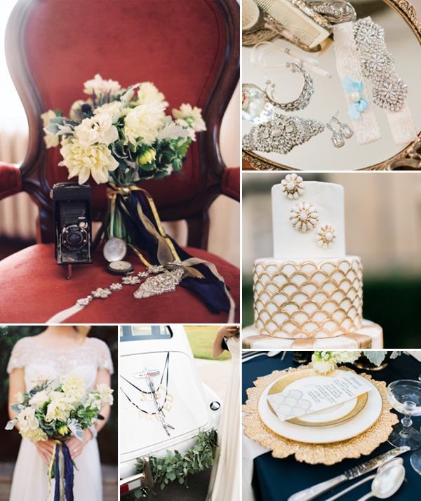 2015 trending marsala navy and gold glittery vintage wedding theme ideas
