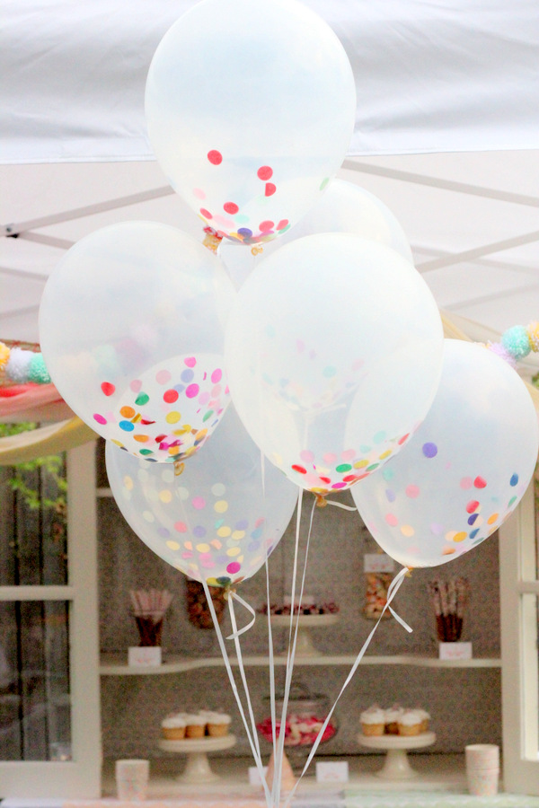 confetti balloons for 2015 trending bridal shower decoration ideas