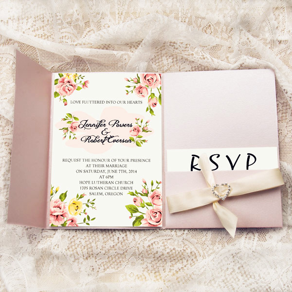 Blush Pink Wedding Invites