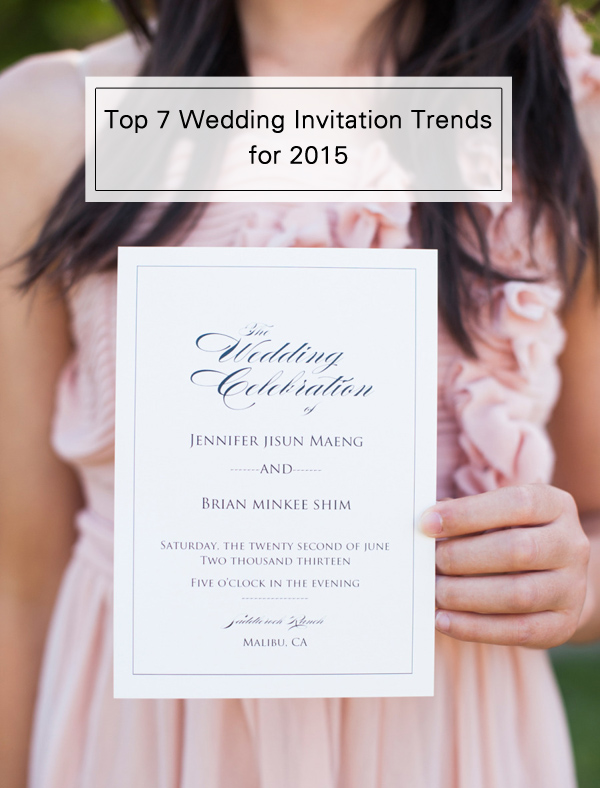 Top 7 wedding invitation trends for 2015 elegantweddinginvites top 7 wedding invitation trends for 2015 stopboris Images