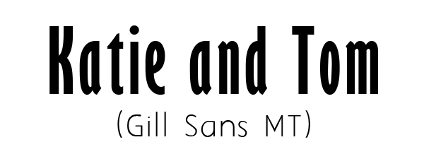 Gill Sans MT free font for custom wedding invitations