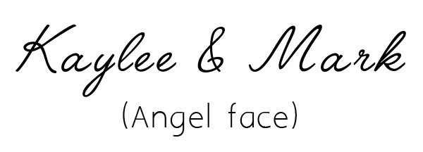 angelface free script font for custom wedding invitations