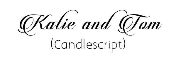 candlescript fancy font download for diy wedding invitation cards
