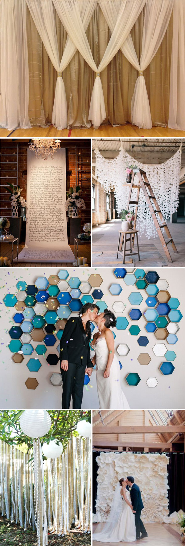 Top 20 unique backdrops for wedding ceremony ideas diy wedding backdrop ideas for 2015 wedding ceremony decorations junglespirit Image collections