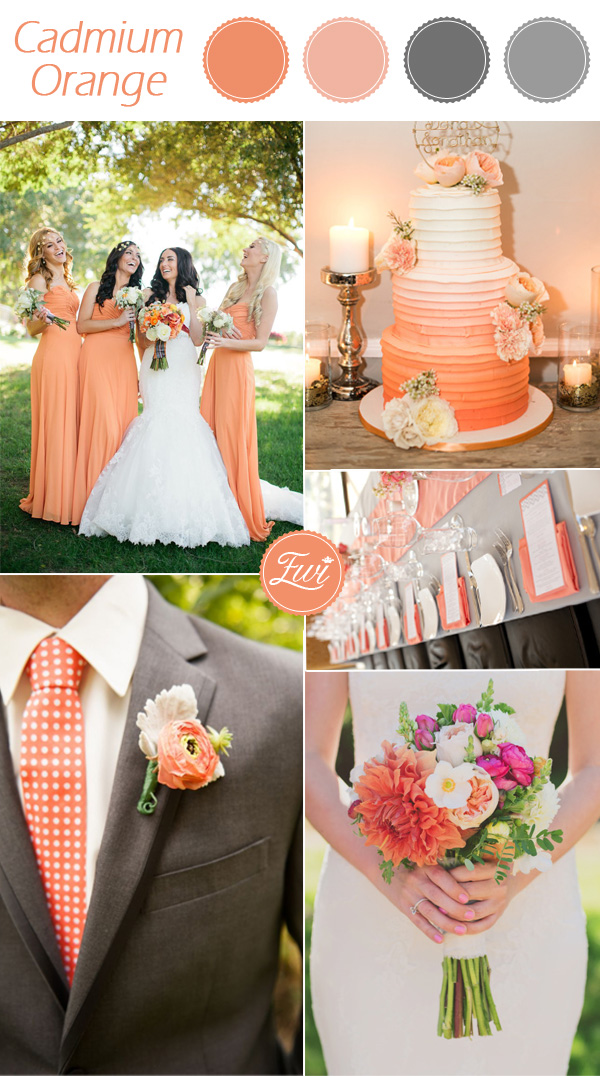 Pantone Cadmium Orange And Gray Fall Wedding Color Ideas 2017