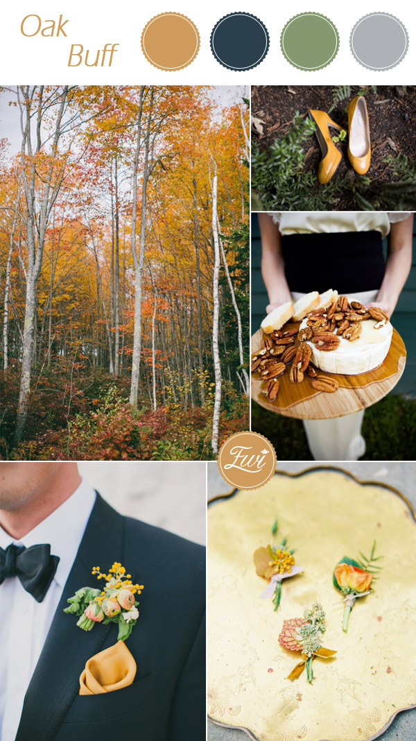 pantone oak buff inspired rustic fall wedding color ideas 2015