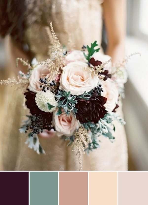 plum and sage green nude wedding colors 2015 trends