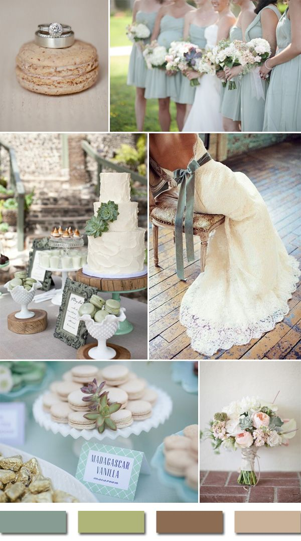rustic sage green and brown sandalwood nude wedding colors 2015 trends