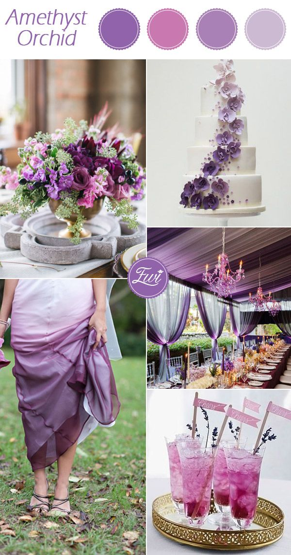 shades of purple orchid fall wedding color ideas 2015