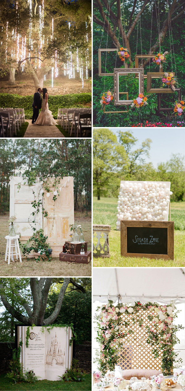 whimsical romantic backdrop ideas for 2015 wedding ceremony decorations