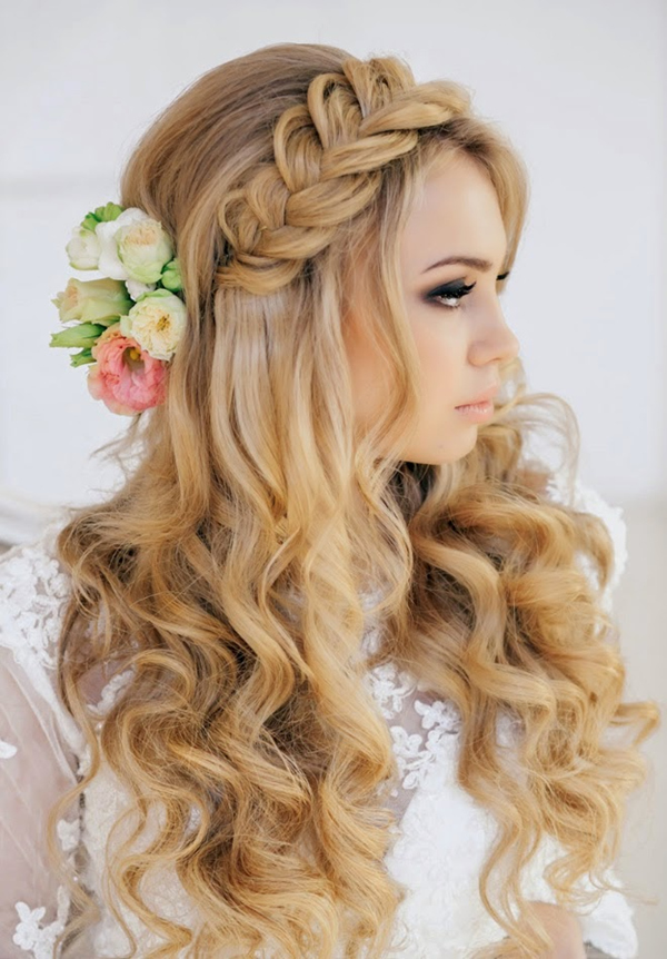 boho themed wedding hairstyle ideas for long