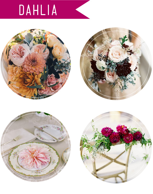 dahlia wedding flowers and bouquets for fall 2015