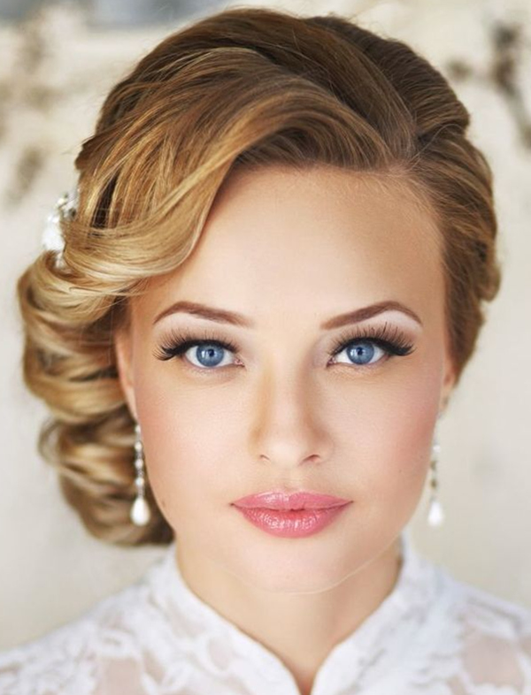 20 creative and beautiful wedding hairstyles for long hair elegant side wedding hairstyles for 2015 brides pmusecretfo Images