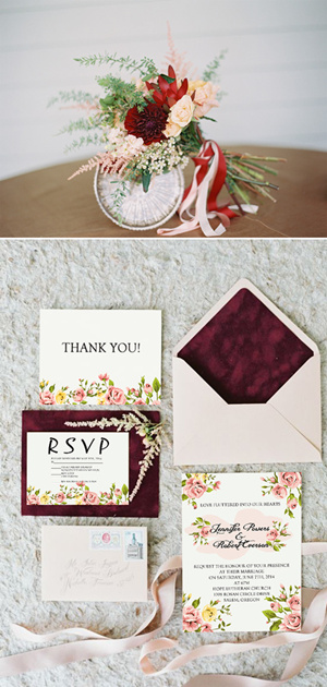 Purple And Gray Rustic Wedding Invitations Fall Ideas Inspired Pink Fl