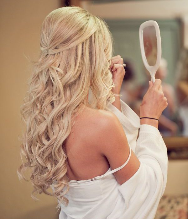 Natural Curls Wedding Hairstyles For Long Hair 2017