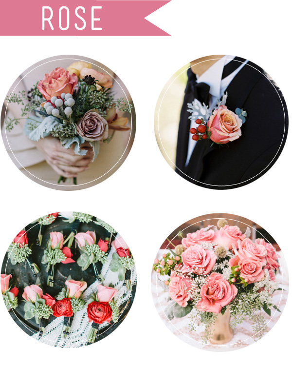 popular rose flowers and bouquets for fall wedding ideas
