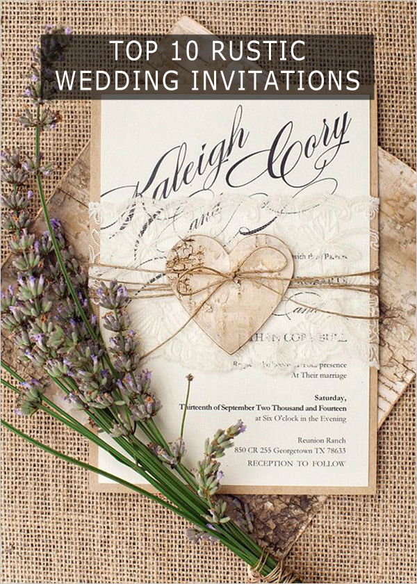 country wedding invites