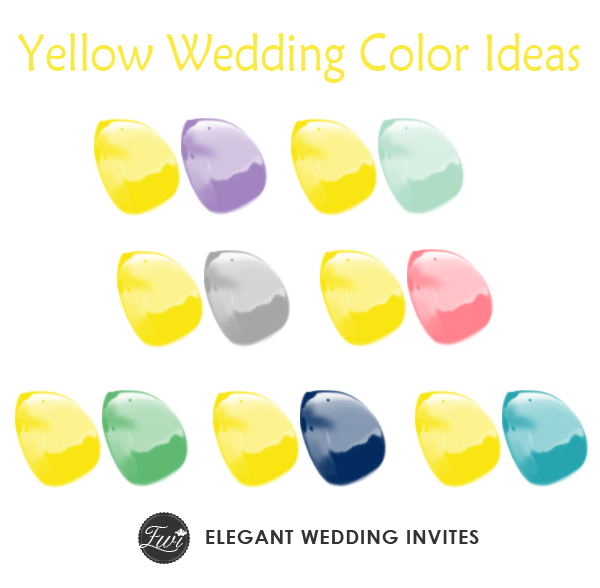 7 yellow wedding color ideas 2015 trends