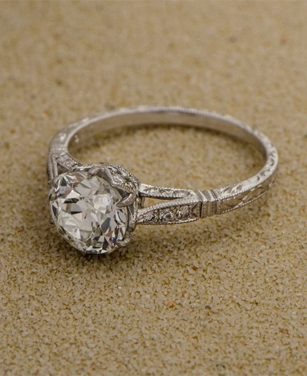 Estate Diamond Vintage Wedding Engagement Ring