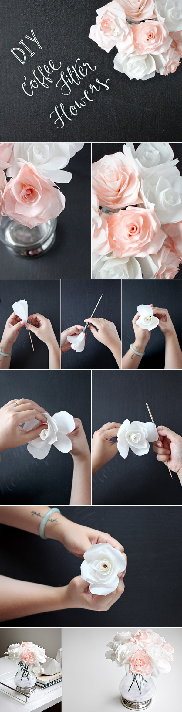 10 creative diy wedding centerpieces with tutorials diy wedding centerpieces ideas with coffee filter flowers izmirmasajfo Choice Image