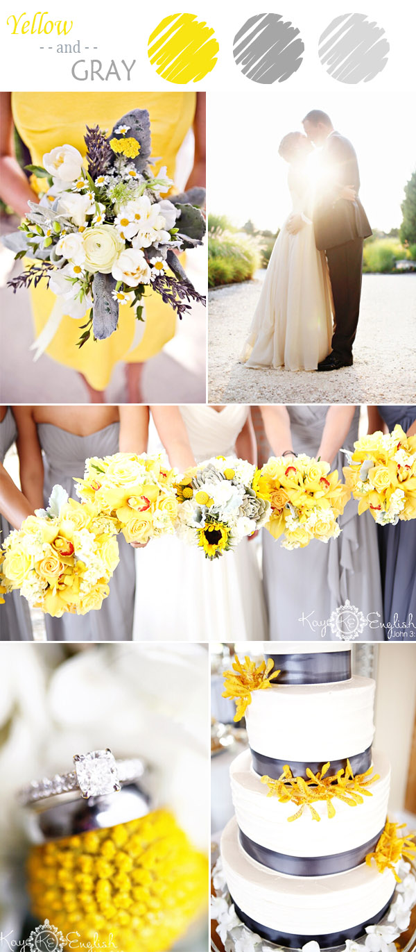 Elegant Yellow And Gray Wedding Colors For Summer 2017