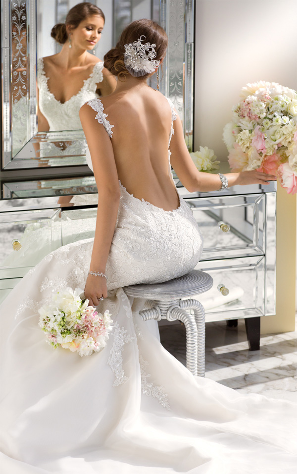 gorgeous vintage backless lace wedding dresses by essence designs