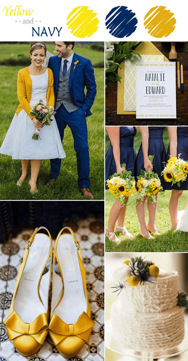 Navy And Yellow Wedding Color Ideas For Fall 2017