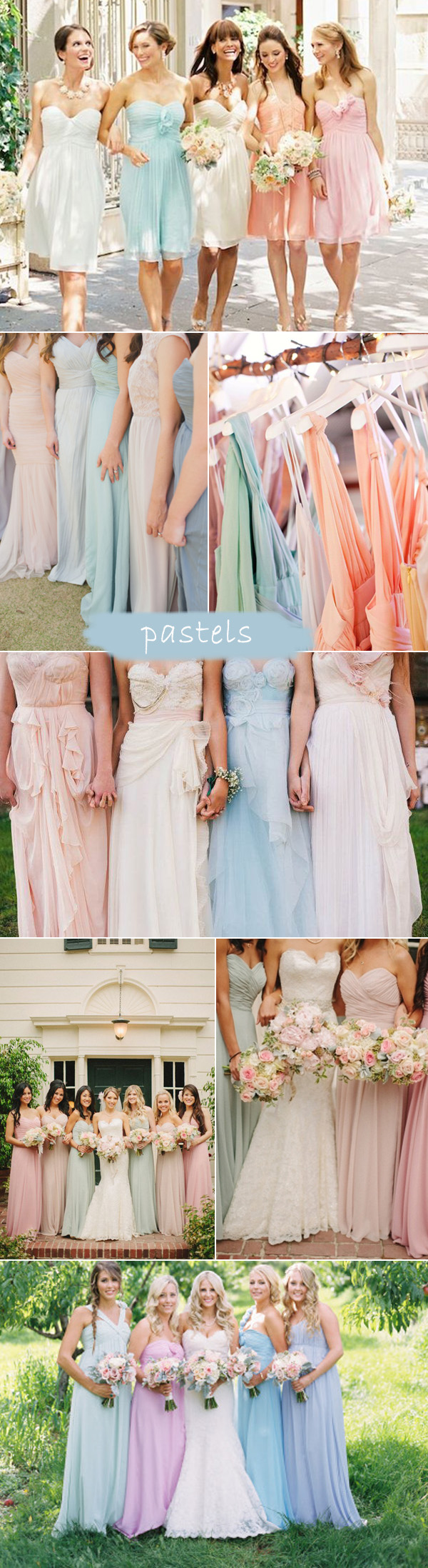 Top 7 trends for bridesmaid dresses 2015 elegantweddinginvites pastel color inspired spring summer bridesmaid dresses 2015 trends ombrellifo Image collections