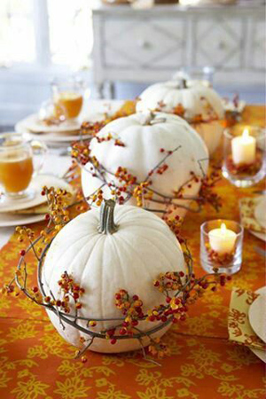 pumpkin themed fall wedding centerpiece ideas