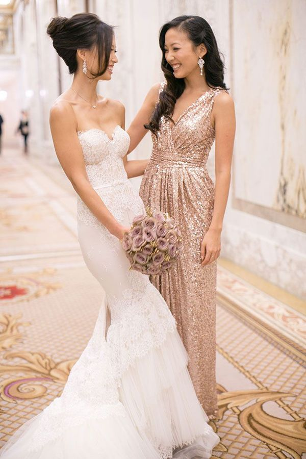 sequins bridesmaid dresses for glittering wedding ideas