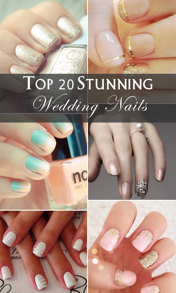 top 20 stunning wedding nails for your big day