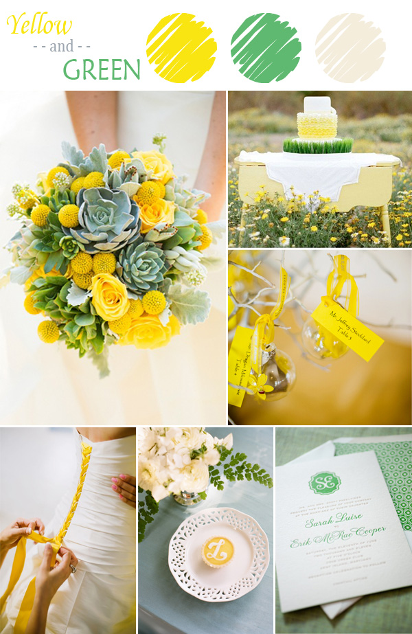 7 perfect yellow wedding color combination ideas to have yellow and green wedding color ideas for spring and summer junglespirit Images
