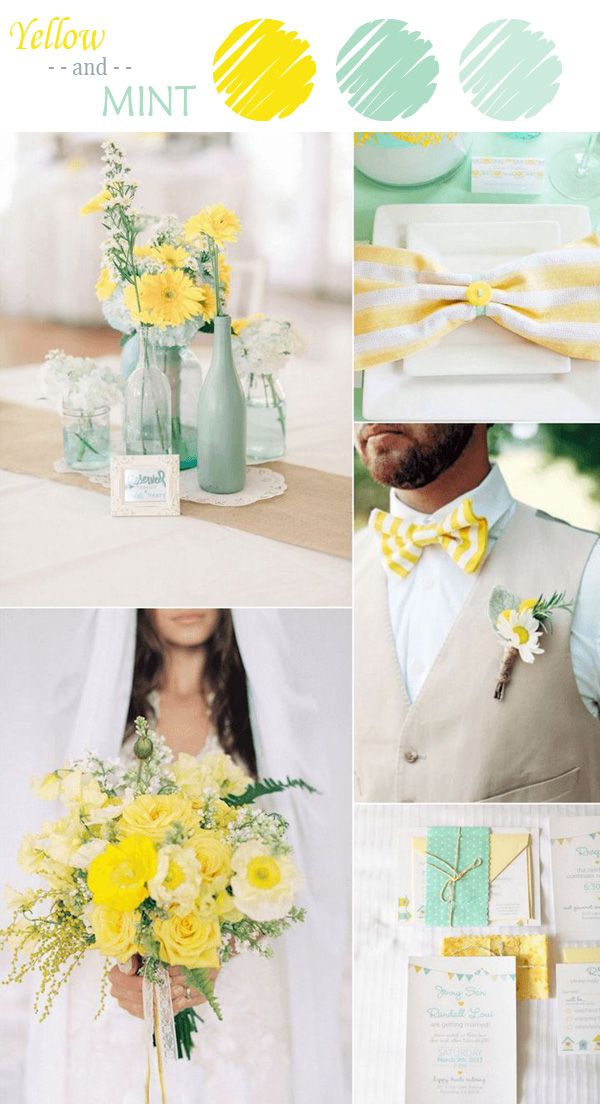 7 Perfect Yellow Wedding Color Combination Ideas to Have ...