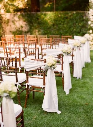 Chivari Chair Side Bows for outdoor rustic wedding ideas