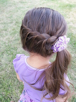 adorable little girl flower girl hairstyle