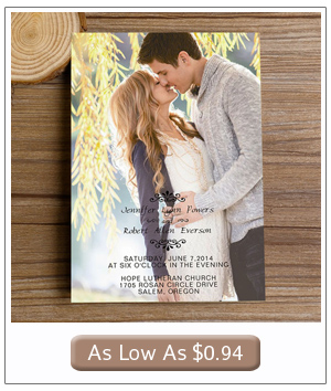 affordable wedding invitations with engagement photos