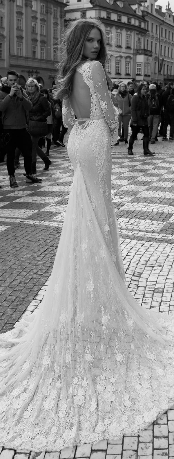 backless lace vintage wedding gowns by berta bridal fall 2015