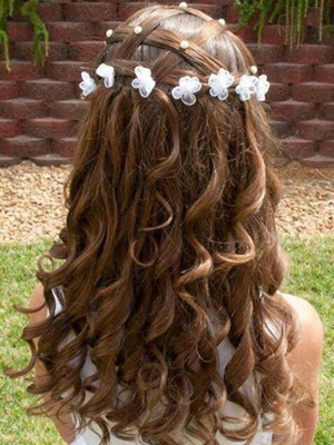 beautiful princess flower girl hairstyles