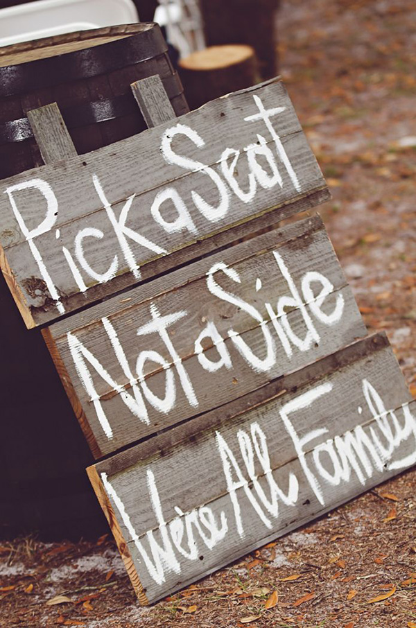 Chalkboard Wedding Signs For Country Rustic Ideas