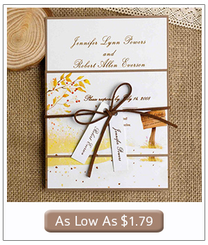 country themed fall wedding invitations