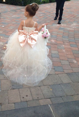 cute flower girl dresses with a bow on the back