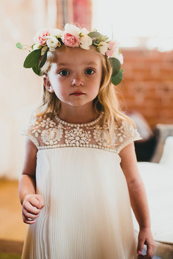 18 cutest flower girl ideas for your wedding day cute flower girl dresses with pearls mightylinksfo
