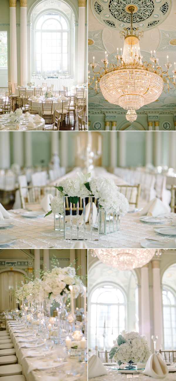 elegant vintage all white ballroom wedding ideas in Georgia