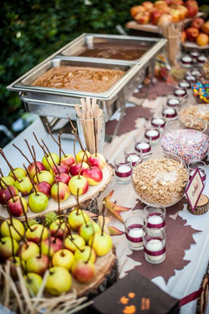 food and drinks wedding bar ideas for fall