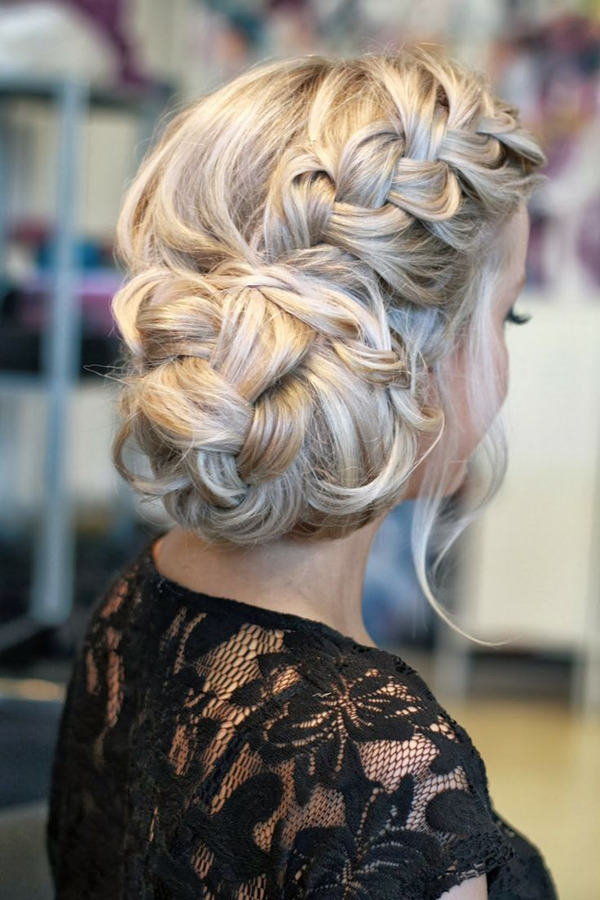 Top 20 fabulous updo wedding hairstyles elegantweddinginvites blog french style twist updos wedding hairstyles junglespirit Choice Image