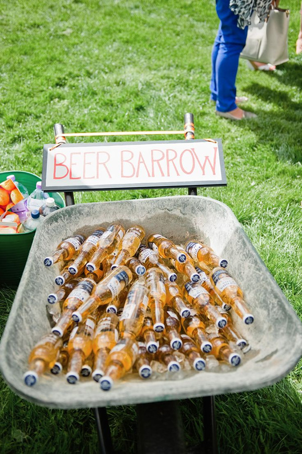 great beer bar for outdoor wedding ideas