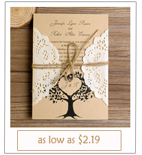 lace and burlap rustic diy wedding invitations