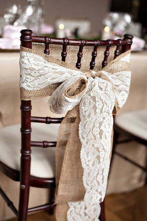8 awesome and easy ways to decorate wedding chairs lace and burlap rustic wedding chair decoration ideas junglespirit Gallery