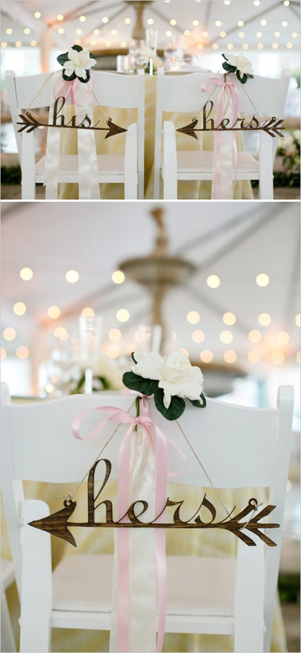 Monograms Wedding Chair Decoration Ideas